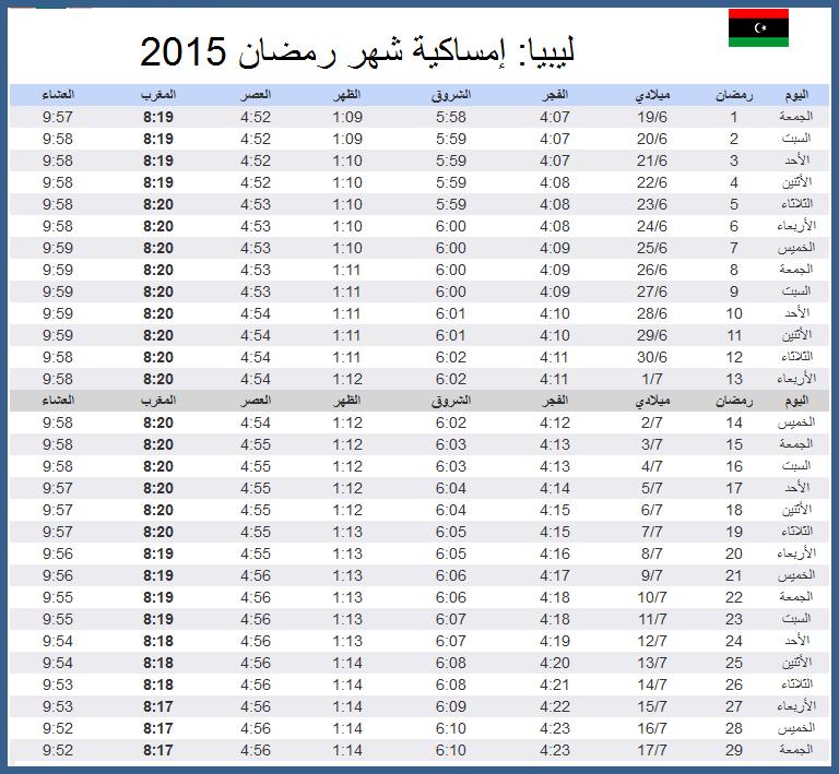 بالصور امساكية رمضان 2019 ليبيا , اوقات الصلاه والامساك والافطار 2019 ليبيا 2898 1