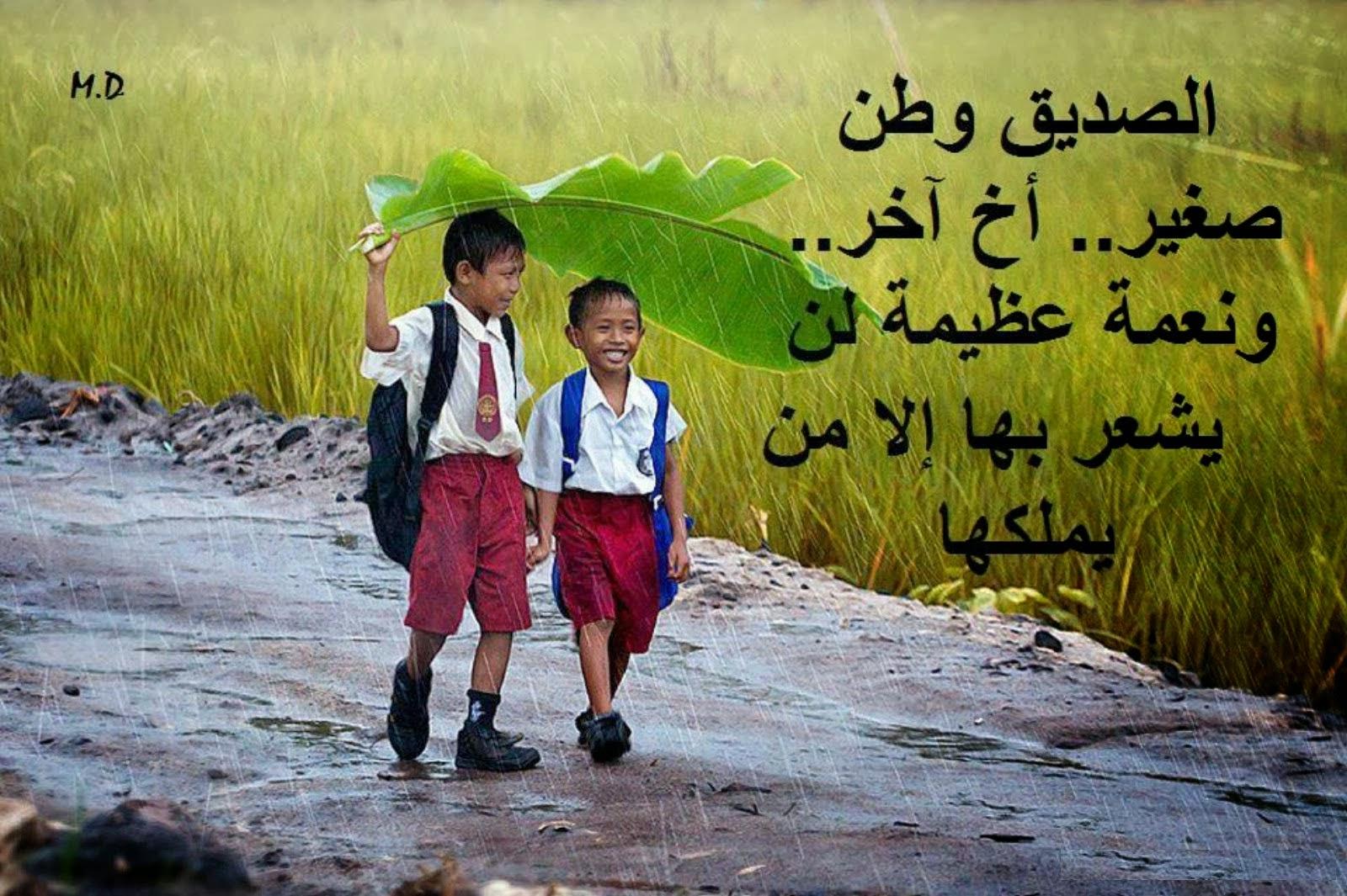 صورة اجمل كلام عن الصديق , كلمات في حب الصديق