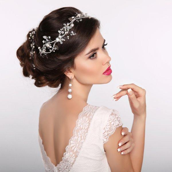 بالصور تسريحات عرايس , تسريحة شعر للعروسه 3481 1