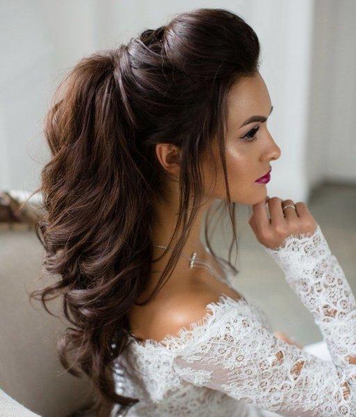 بالصور تسريحات عرايس , تسريحة شعر للعروسه 3481 2