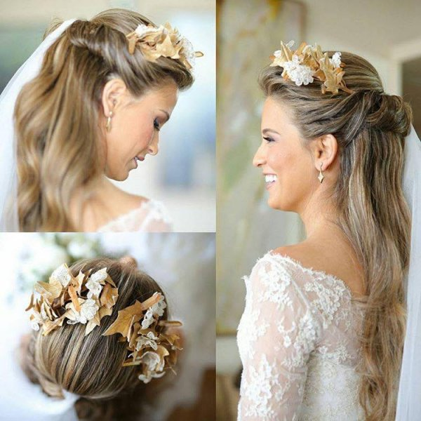 بالصور تسريحات عرايس , تسريحة شعر للعروسه 3481 6
