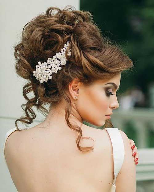 بالصور تسريحات عرايس , تسريحة شعر للعروسه 3481 7