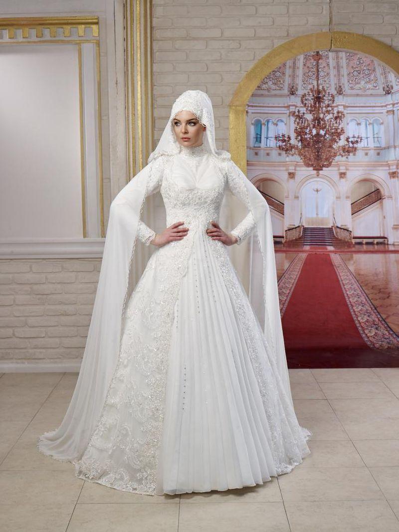 بالصور فساتين زفاف للمحجبات , فساتين افراح 3701 1