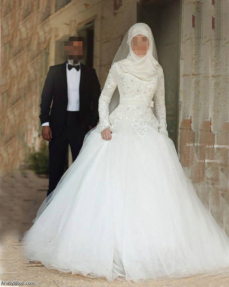 بالصور فساتين زفاف للمحجبات , فساتين افراح 3701 2