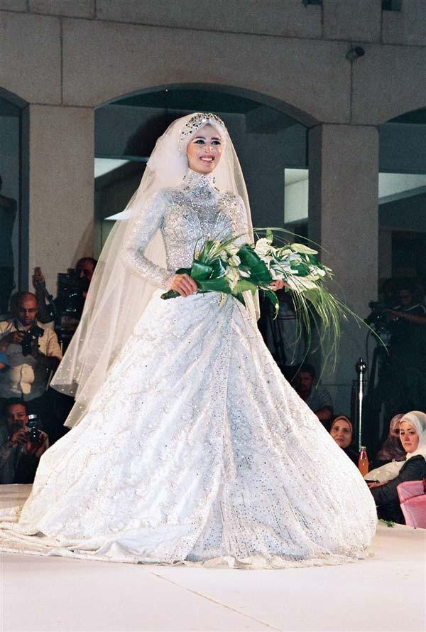 بالصور فساتين زفاف للمحجبات , فساتين افراح 3701 7