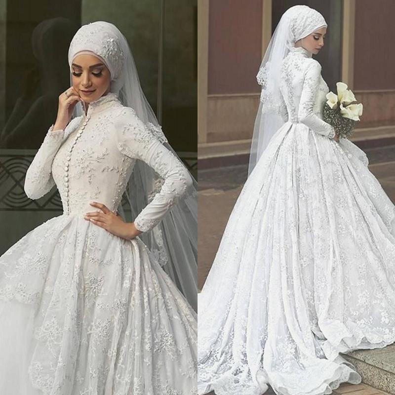بالصور فساتين زفاف للمحجبات , فساتين افراح 3701 8
