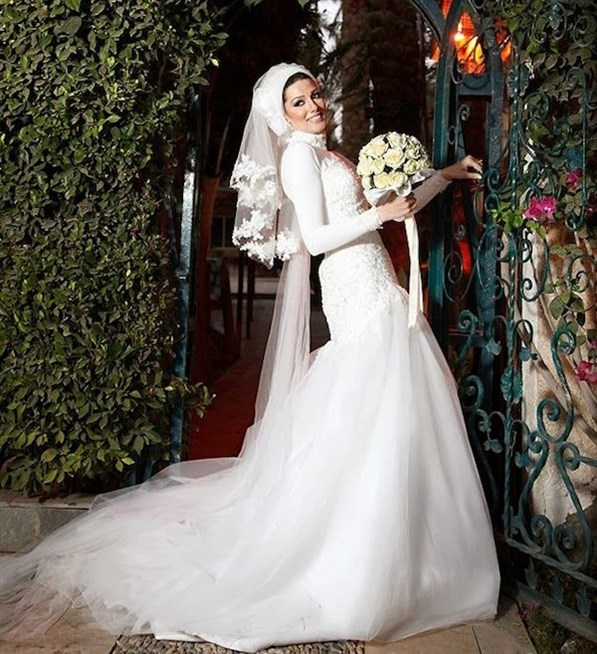 بالصور فساتين زفاف للمحجبات , فساتين افراح 3701 9