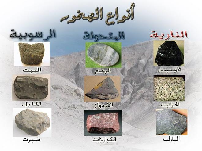 انواع الصخور تصنيفات الصخور المختلفه قلوب فتيات