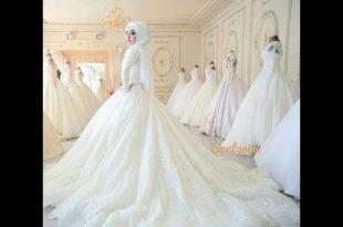 صور فساتين زفاف محجبات , احدث صيحات فساتين المحجبات للعروسة