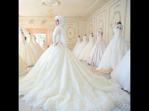 صورة فساتين زفاف محجبات , احدث صيحات فساتين المحجبات للعروسة