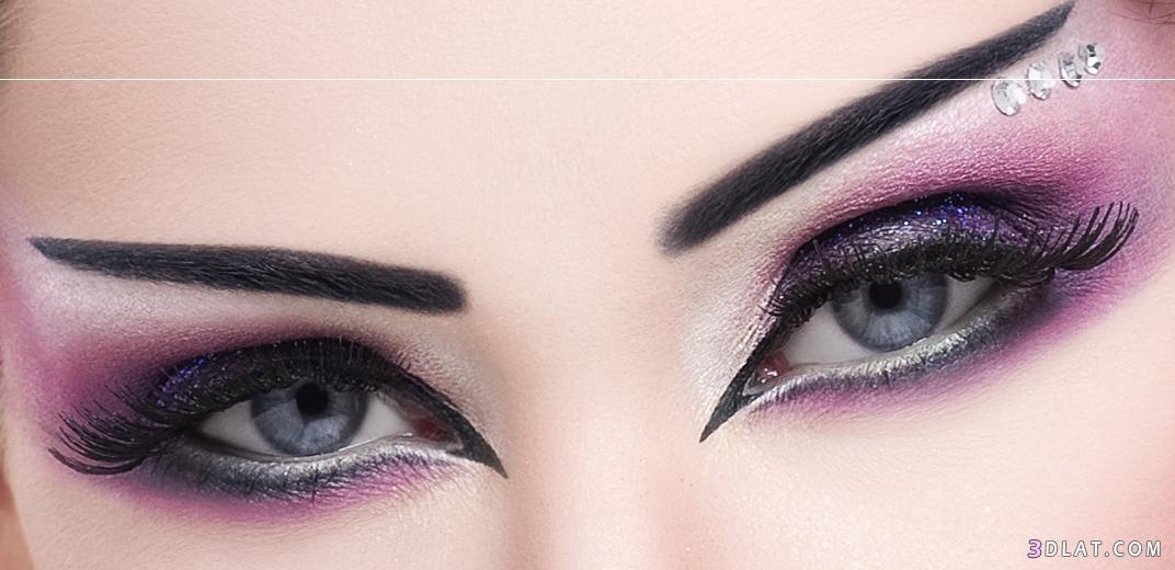 صوره مكياج عيون خليجي , طريقة ميك اب العيون الخليجي