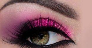 صورة مكياج عيون خليجي , طريقة ميك اب العيون الخليجي