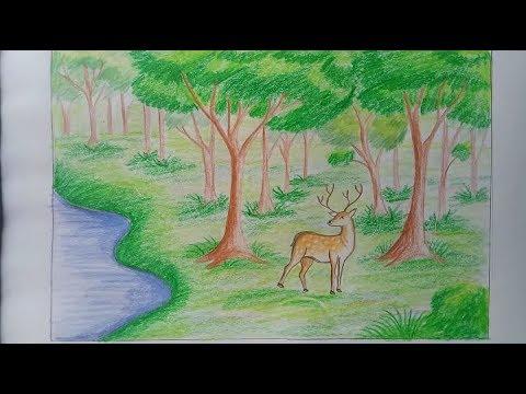 بالصور رسم منظر طبيعي للاطفال , تعليم الاطفال كيف يرسمون منظر طبيعى 4108 2