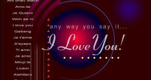 بالصور كلمة بحبك , صور بحبك بكل اللغات 4182 11 310x165