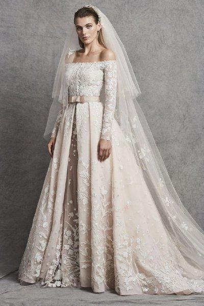 صورة فساتين زفاف زهير مراد 2019 , افضل فساتين لعام 2019 لزهير مراد