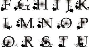 صورة حروف انجليزيه مزخرفه , اروع الحروف المنقوشة بالانجليزية