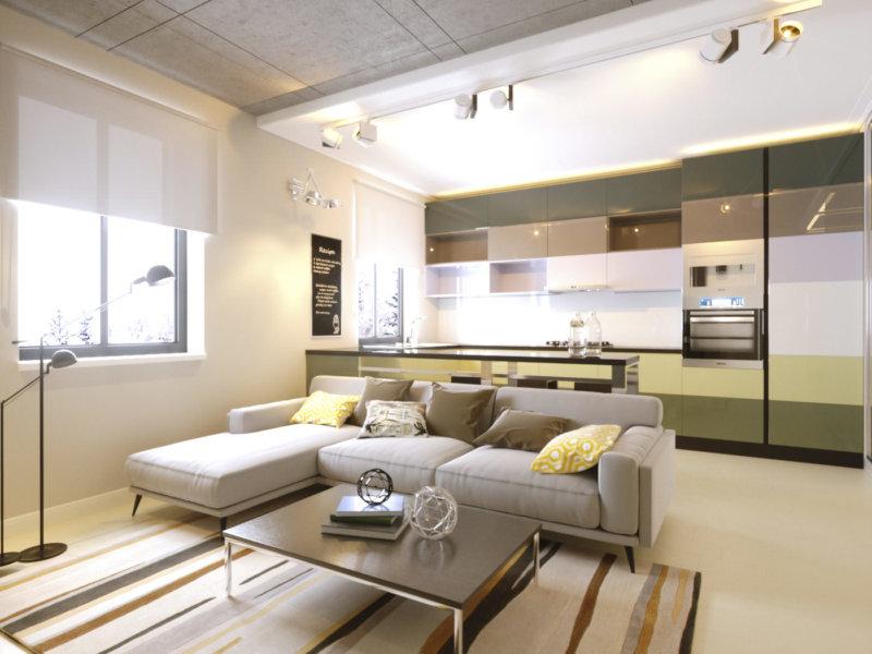 بالصور تصميم شقق صغيرة 100 متر , مخططات لشقة مساحة 100 متر صغيرة 12282 11