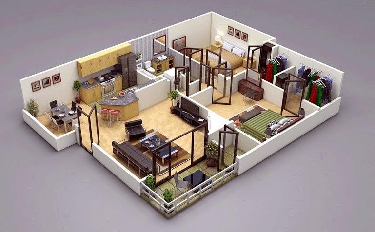 بالصور تصميم شقق صغيرة 100 متر , مخططات لشقة مساحة 100 متر صغيرة 12282 2