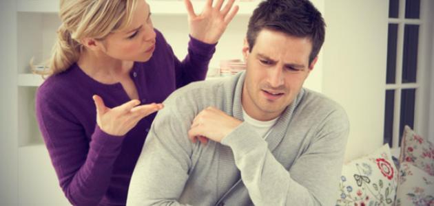 صور خصام الزوج لزوجته , غضب الرجل من زوجته وخصامها