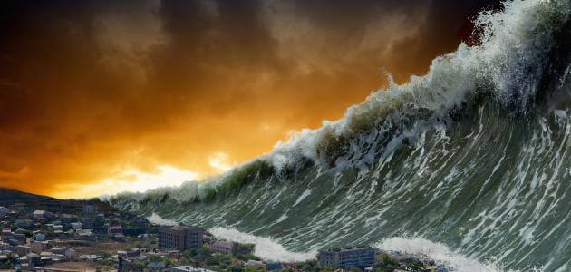 صور بحث حول تسونامي , تعبير عن اعصار تسونامي