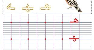 صور كتابة حرف الهاء , طريقة كتابة حرف اله