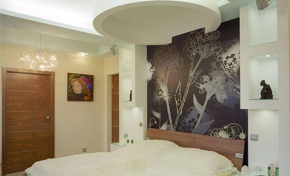 صور حوائط جبس بورد , اجمل الجدران الجبسية باشكال ورد