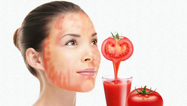 صور فوائد البندورة للوجه , ماسك الطماطم لتفتيح البشرة