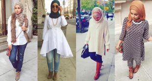 صور اخر صيحات الموضة للمحجبات , اروع الاستايلات والازياء للفتيات المحجبة