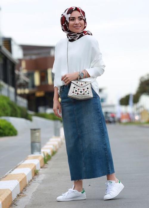 بالصور اخر صيحات الموضة للمحجبات , اروع الاستايلات والازياء للفتيات المحجبة 1459 4