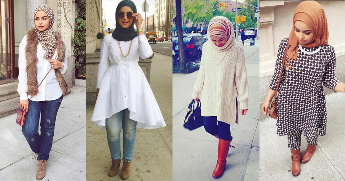 صورة اخر صيحات الموضة للمحجبات , اروع الاستايلات والازياء للفتيات المحجبة