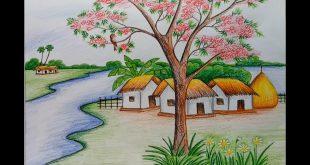 صورة رسم منظر طبيعي, رسومات لمناظر طبيعيه